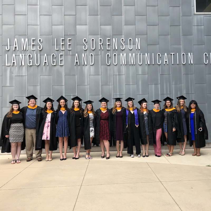 Speech and Language Pathology graduating class of 2018