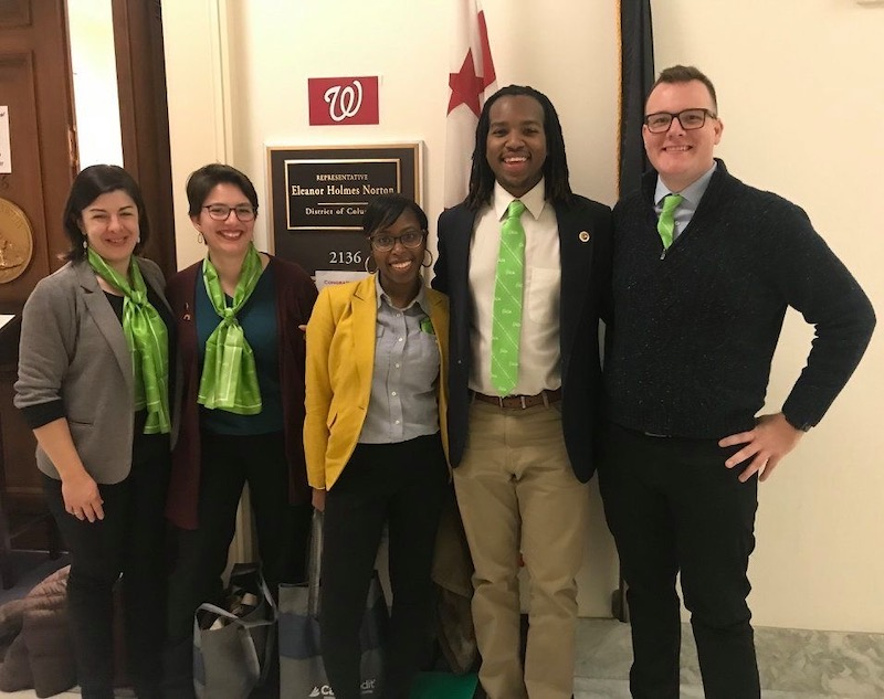 Dr. Buxton and students on Capitol Hill advocating for coverage of audiology services