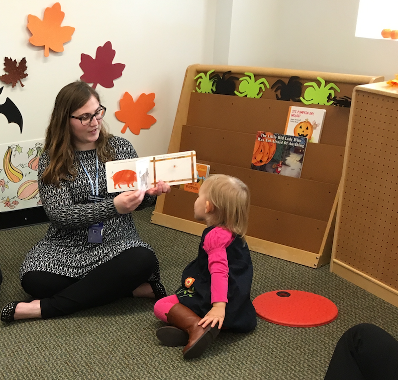 Speech language pathologist works with a CODA